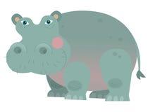 Hipopótamo dos desenhos animados - ilustração para as crianças Imagens de Stock Royalty Free