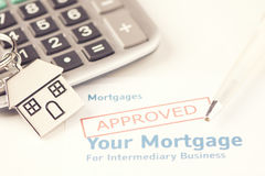 Hipoteca aprovada Imagens de Stock Royalty Free