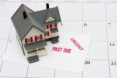 Hipoteca atrasada Foto de archivo libre de regalías