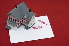 Hipoteca atrasada Fotografía de archivo libre de regalías