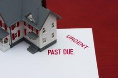 Hipoteca atrasada Imágenes de archivo libres de regalías