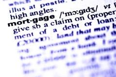 A hipoteca da palavra Imagem de Stock