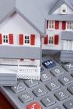Hipoteca e sinal Fotos de Stock Royalty Free