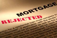 Hipoteca rechazada Fotografía de archivo libre de regalías