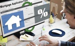 Hipotecznego własność kredyta zakupu Pożyczkowy pojęcie Zdjęcie Stock