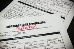 Hipoteczny Pożyczkowy zastosowanie Odrzucał 008 Zdjęcia Stock