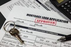 Hipoteczny Pożyczkowy zastosowanie Zatwierdzał 009 Zdjęcie Stock