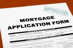 Hipoteque o formulário de candidatura Imagens de Stock Royalty Free