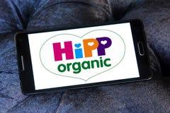 Hipp organic logo. Logo of baby foods company hipp organic on samsung mobile phone Royalty Free Stock Photography