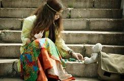 hippie γυναίκα στοκ εικόνες με δικαίωμα ελεύθερης χρήσης