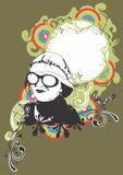 hippie γυναίκα διανυσματική απεικόνιση