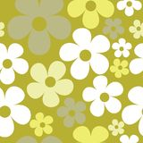 Hippie безшовной картины вектора бледный ый-зелен флористический иллюстрация вектора