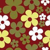 Hippie безшовной картины вектора бургундский флористический иллюстрация штока