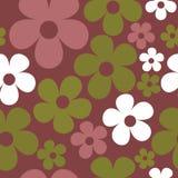 Hippie безшовной картины вектора темный пурпурный флористический бесплатная иллюстрация