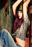 hippie девушки Стоковое Фото