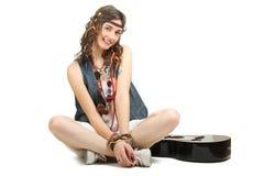 Hippie девушки Стоковая Фотография RF