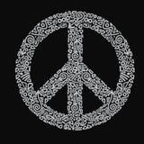 Hippie иллюстрации вектора знака мира Иллюстрация вектора
