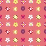 Hippie решетки пинка картины вектора безшовный флористический иллюстрация штока