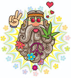 hippie illustration libre de droits