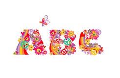 Hippie alphabet. ABC Stock Photography