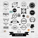 Hippie-Aufkleber-und Ausweis-Ikonen-Vektor-Design Lizenzfreies Stockbild