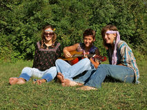 Hippie band Stock Photography