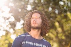 Hippie beau en parc photo stock