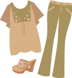 Hippie Bell Bottoms Royalty Free Stock Images