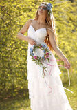 Hippie bride Stock Image