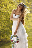 Hippie bride Stock Photos