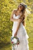 Hippie bride Stock Photos