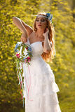 Hippie bride Royalty Free Stock Images