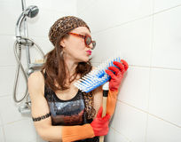 Hippie brush loving Royalty Free Stock Photography