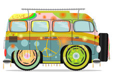 Hippie car. Royalty Free Stock Images