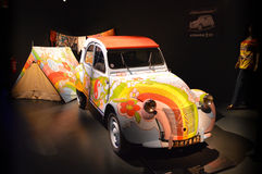 Hippie car at Museo Nazionale dell'Automobile Royalty Free Stock Photo
