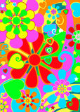 Hippie chic flower power Stock Photo