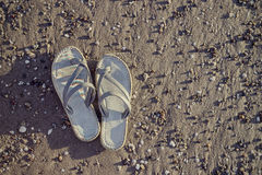 Hippie-chic sandals Stock Photography