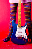 Hippie Chick Guitar Stock Image