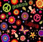 Hippie childish wallpaper Royalty Free Stock Image
