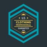 Hippie coloré Logo Design Template Vector de vintage Photographie stock libre de droits