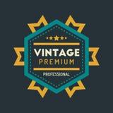 Hippie coloré Logo Design Template Vector de vintage Photographie stock