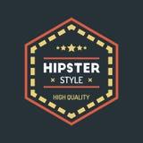 Hippie coloré Logo Design Template Vector de vintage Photos libres de droits