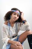 Hippie com sinais de paz Imagem de Stock Royalty Free