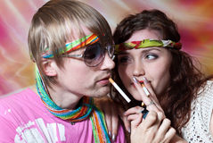 Hippie couple Royalty Free Stock Photos