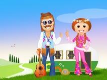 Hippie couple Stock Photos