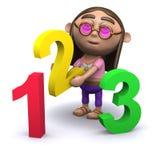 Hippie 3d lernt, wie man zählt Stockbild