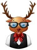 Hippie de cerfs communs habillé et lunettes de soleil Illustration de Vecteur