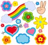 Hippie decorations Stock Image