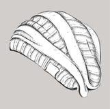 Hippie del sombrero Bosquejo a mano del sombrero Ilustración del vector Imagen de archivo