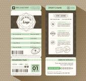 Hippie-Design Bordkarte-Karten-Ereignis-Einladung Lizenzfreie Stockbilder
